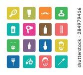 barbershop icons universal set... | Shutterstock . vector #284979416
