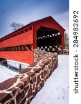 Sach\'s Covered Bridge During...