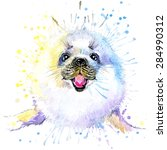 Fur Seal T Shirt Graphics  Fu...