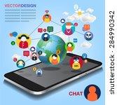 chat mobile | Shutterstock .eps vector #284990342