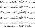 calligraphic decorative... | Shutterstock .eps vector #284996876