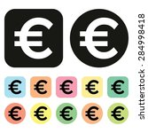euro symbol. eu currency icon.... | Shutterstock .eps vector #284998418