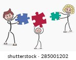 family puzzle   Shutterstock .eps vector #285001202