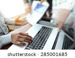 business documents on office... | Shutterstock . vector #285001685