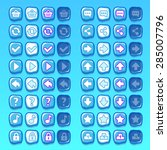 ice game icons buttons icons ...