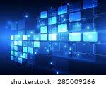 abstract vector digital... | Shutterstock .eps vector #285009266