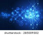 vector digital technology... | Shutterstock .eps vector #285009302