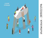 Cloud Storage Isometric Vector...