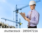 inspector  osha  clipboard. | Shutterstock . vector #285047216