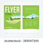 abstract green vector modern... | Shutterstock .eps vector #285047345