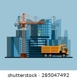 construction site  building a... | Shutterstock .eps vector #285047492