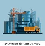 construction site  building a... | Shutterstock .eps vector #285047492
