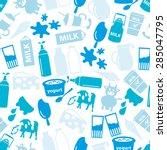 milk and milk product blue...   Shutterstock .eps vector #285047795
