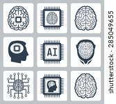 artificial intelligence and... | Shutterstock .eps vector #285049655