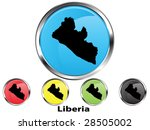 glossy vector map button of...