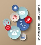 group of colorful contact icons ... | Shutterstock .eps vector #285068846