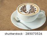 Coffee Latte Art In Coffee Shop
