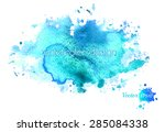 colorful abstract blue... | Shutterstock .eps vector #285084338