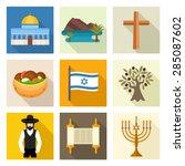 israel icon set   Shutterstock .eps vector #285087602
