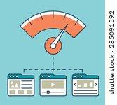 vector illustration of web... | Shutterstock .eps vector #285091592