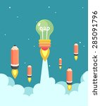 vector. illustration. rocket... | Shutterstock .eps vector #285091796