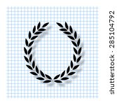 laurel wreath   vector icon... | Shutterstock .eps vector #285104792