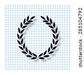 laurel wreath   vector icon... | Shutterstock .eps vector #285104792