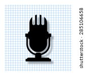 microphone   vector icon with...   Shutterstock .eps vector #285106658