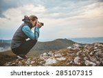 Woman Photographer Is Taking A...