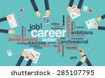 career development or career...   Shutterstock .eps vector #285107795