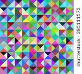 patchwork mosaic multicolored... | Shutterstock .eps vector #285111572