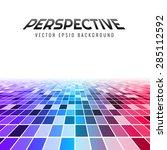 abstract perspective tiles ... | Shutterstock .eps vector #285112592