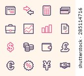 finance web icons set | Shutterstock .eps vector #285114716
