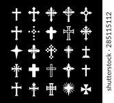 christian cross    Shutterstock .eps vector #285115112