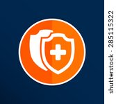 vector medical shield icon... | Shutterstock .eps vector #285115322