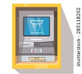 street atm teller machine with... | Shutterstock .eps vector #285118202