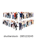 office culture corporate... | Shutterstock . vector #285123245