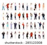 isolated over white business... | Shutterstock . vector #285123308