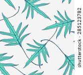 pattern branch with leaves ... | Shutterstock .eps vector #285123782
