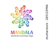mandala sign logo  transparent... | Shutterstock .eps vector #285123986