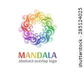 mandala sign logo  transparent...   Shutterstock .eps vector #285124025