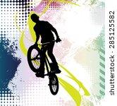bmx rider | Shutterstock . vector #285125582