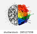creative concept of the human... | Shutterstock .eps vector #285127358