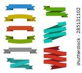 set of creative modern ribbon... | Shutterstock .eps vector #285131102