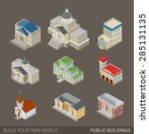 city architecture public... | Shutterstock .eps vector #285131135