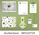 green and organic corporate... | Shutterstock .eps vector #285132725