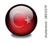 turkish flag on a shiny orb or... | Shutterstock . vector #28513279