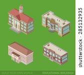 architecture modern city...   Shutterstock .eps vector #285132935