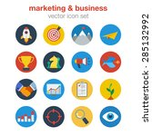 flat marketing business design... | Shutterstock .eps vector #285132992
