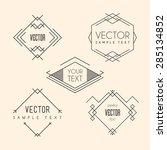 set of minimal line art... | Shutterstock .eps vector #285134852